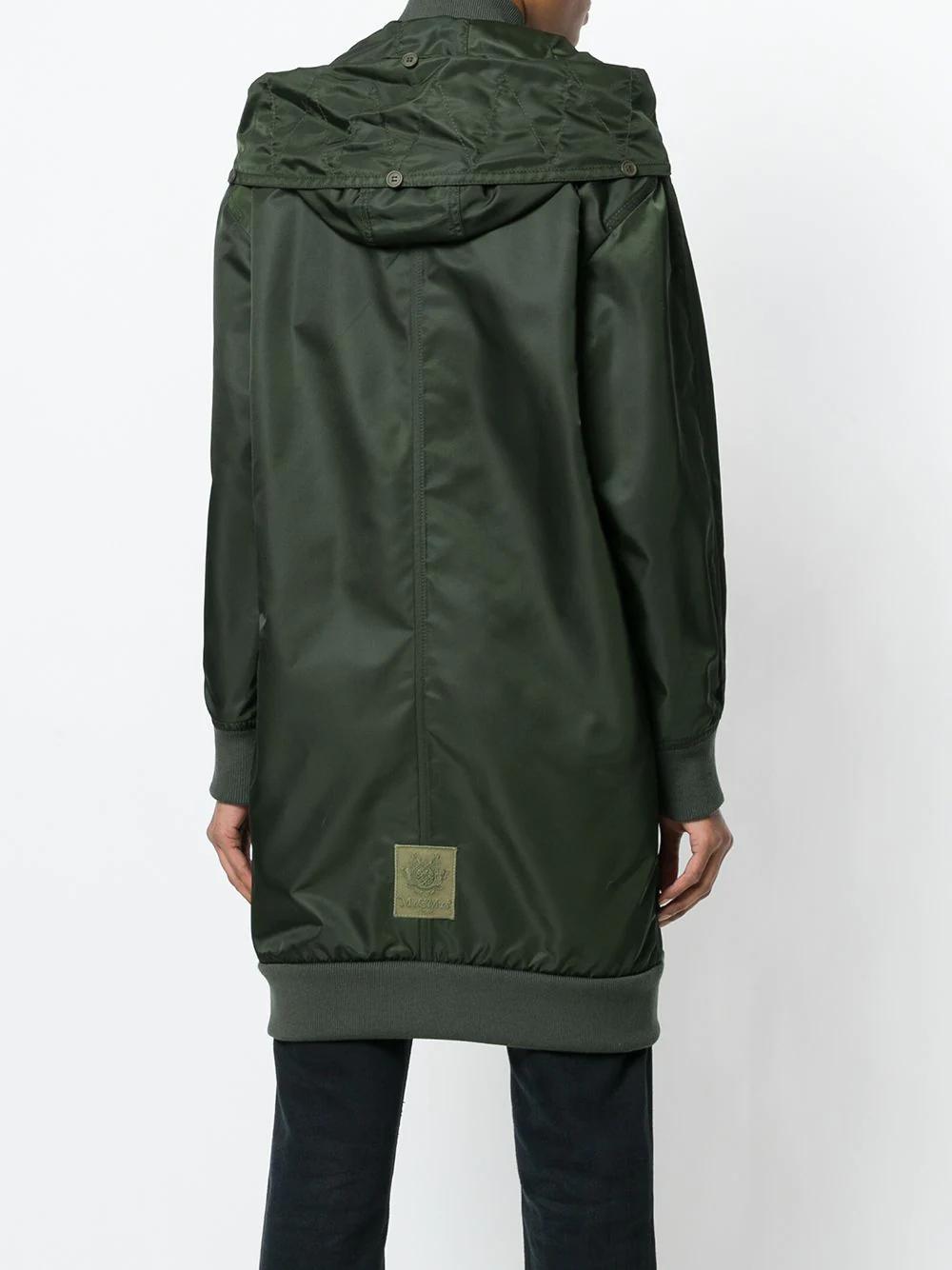 Mr & Mrs Italy | пальто средней длины со съемным капюшоном | Clouty