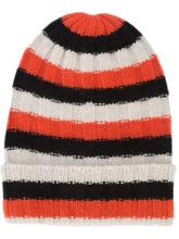 Фото полосатая шапка-бини