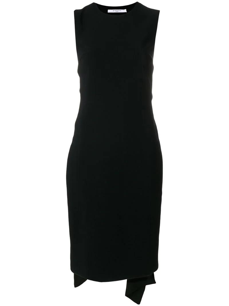 GIVENCHY | платье с открытой спиной и поясом | Clouty