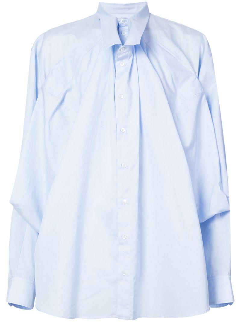 Y/Project | рубашка с двухслойным драпированным передом | Clouty