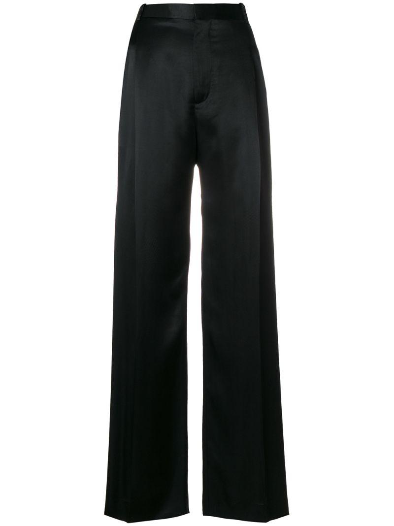 GIVENCHY   расклешенные брюки с завышенной талией   Clouty