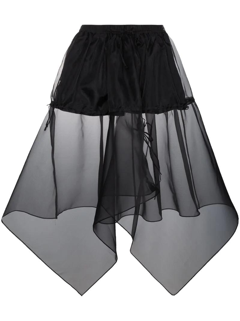 асимметричная юбка миди  Blindness