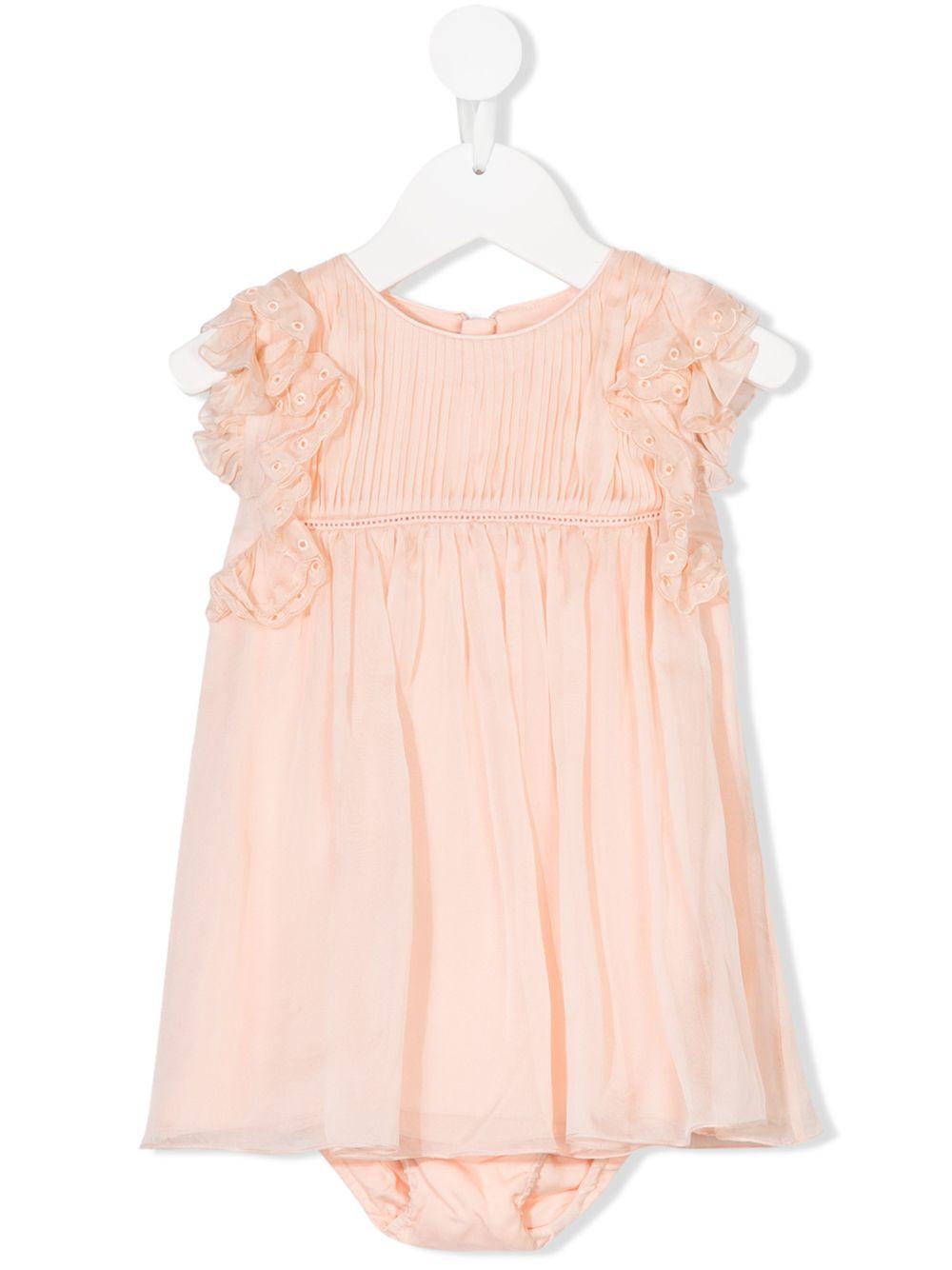 Chloé Kids   плиссированное платье   Clouty