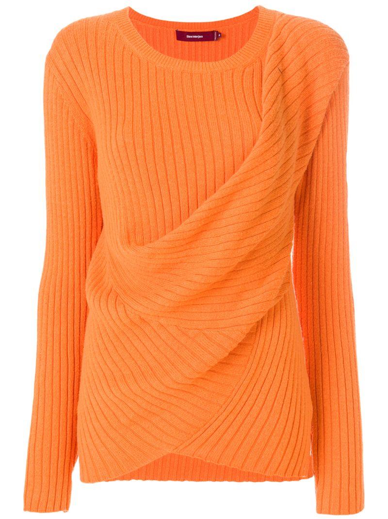 Sies Marjan | draped rib knit sweater | Clouty