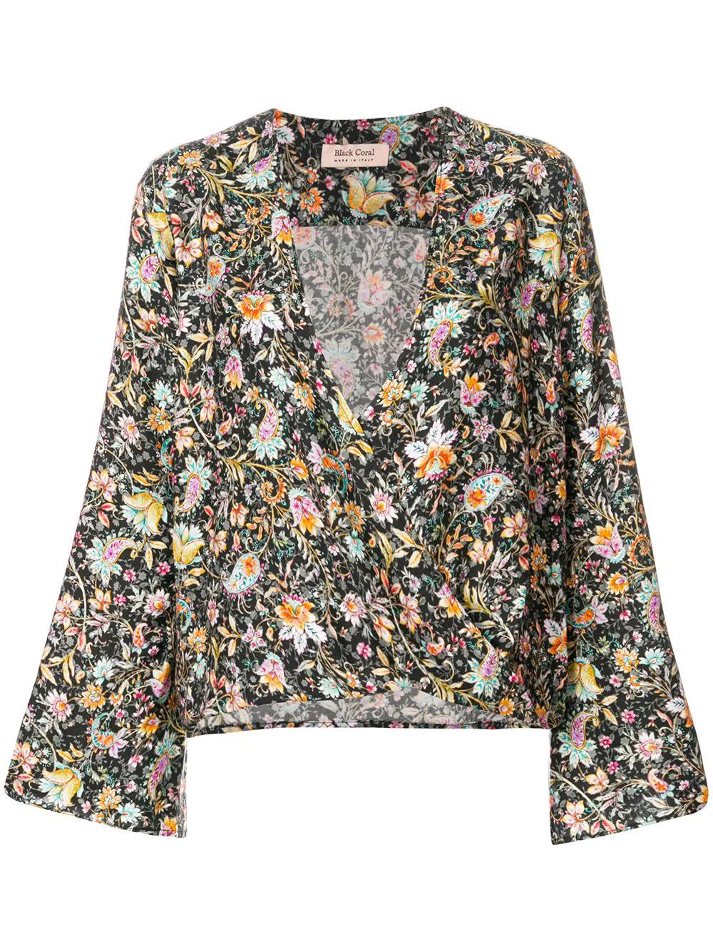 Black Coral   блузка с цветочным принтом   Clouty