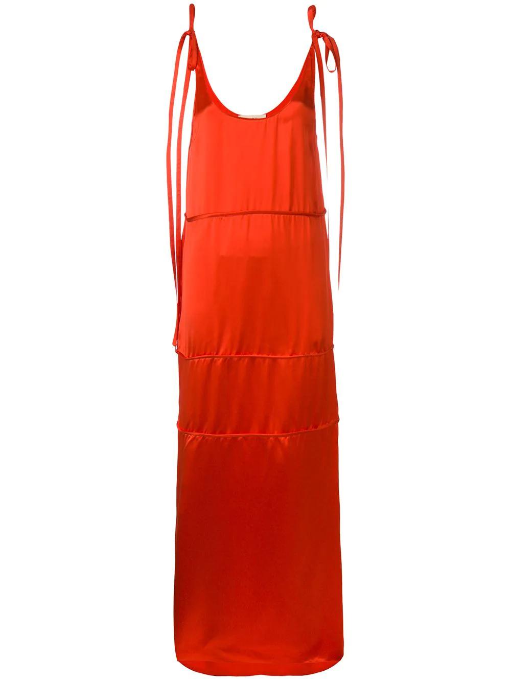 Ports 1961   длинное платье-рубашка с лямками на завязках   Clouty