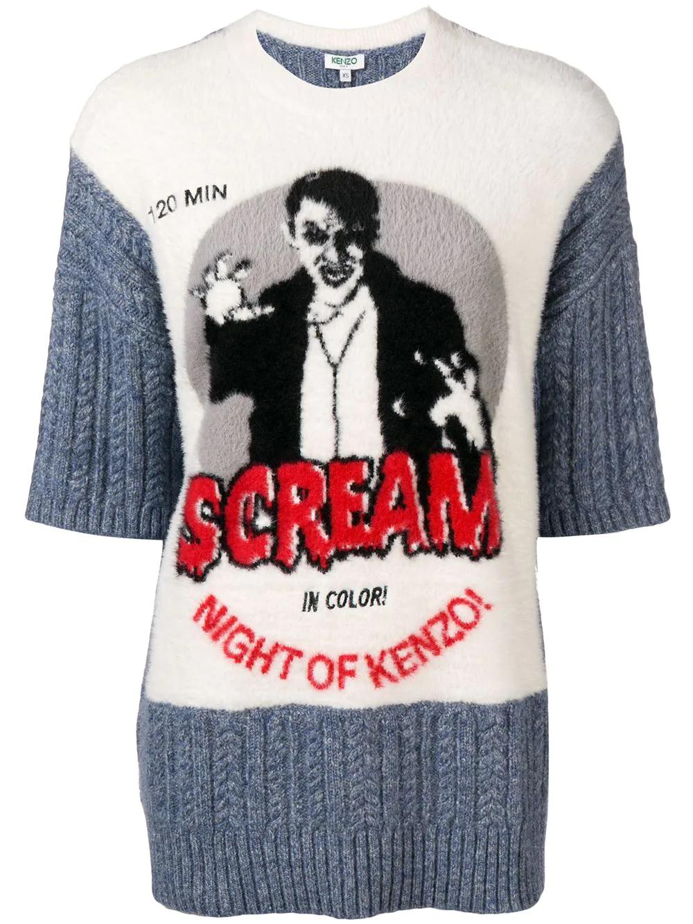 KENZO | трикотажный джемпер 'Scream' | Clouty