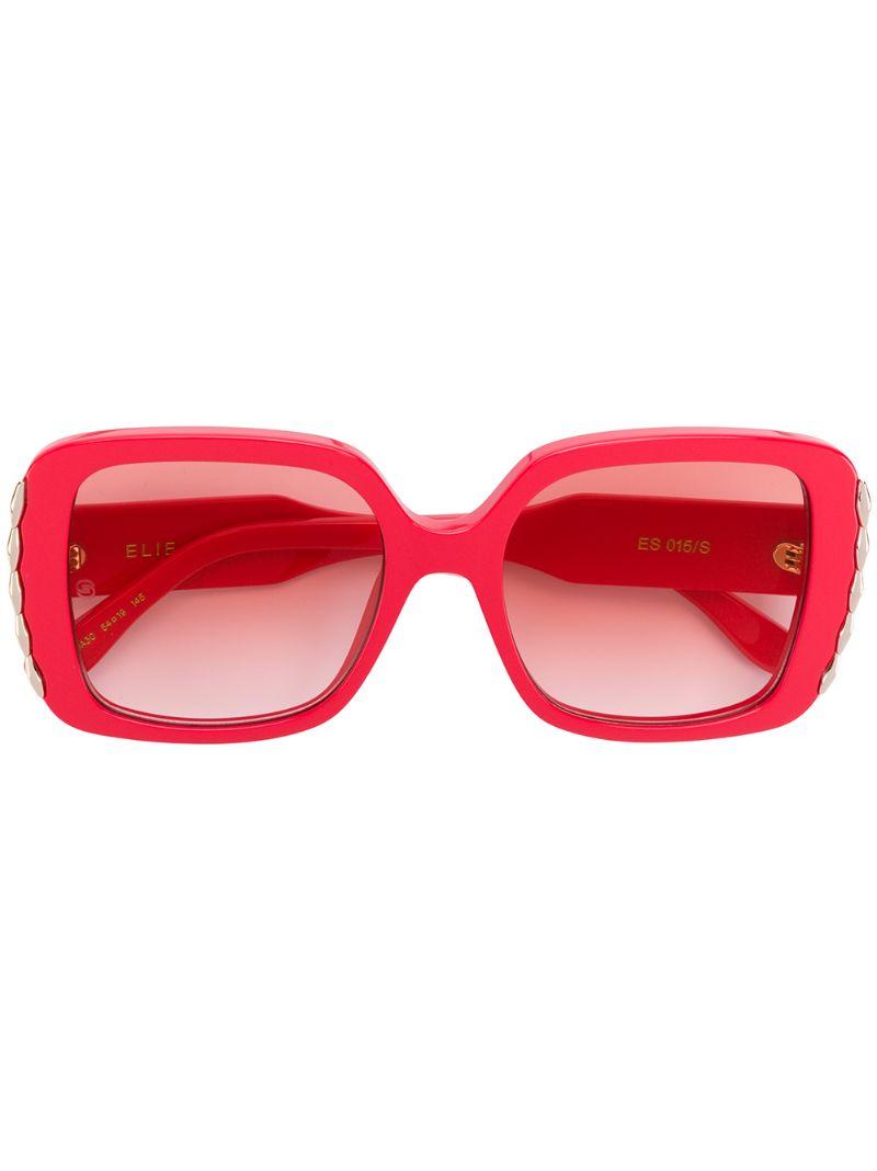 Elie Saab   солнцезащитные очки в массивной квадратной оправе   Clouty