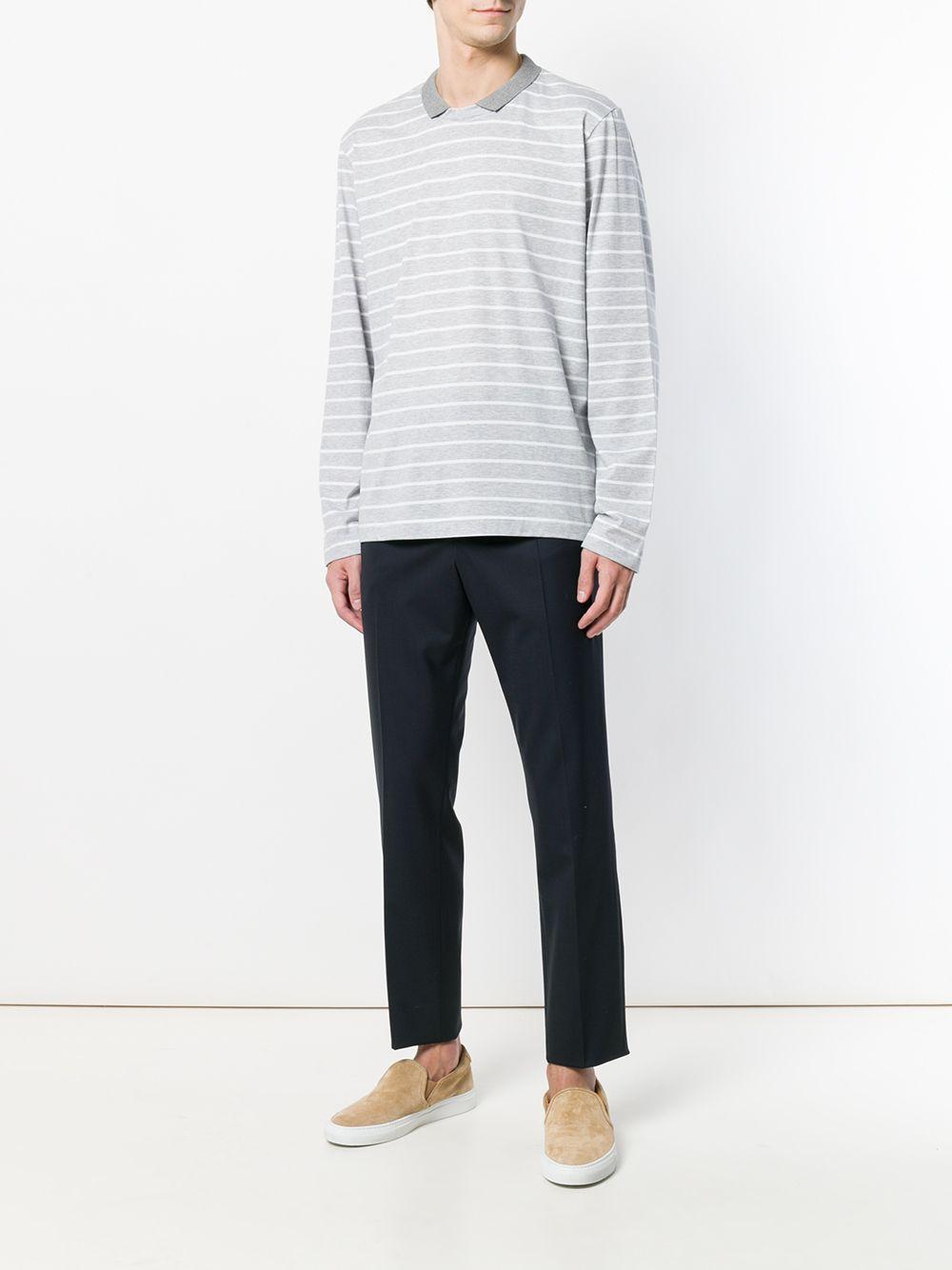 Eleventy | свитер в полоску с воротником | Clouty