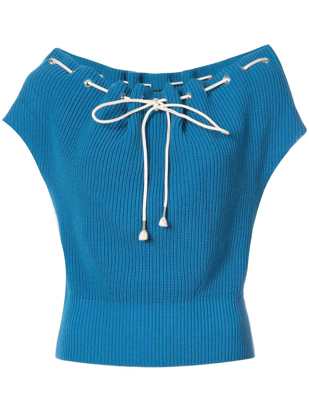 Calvin Klein   свитер свободного кроя со шнуровкой   Clouty