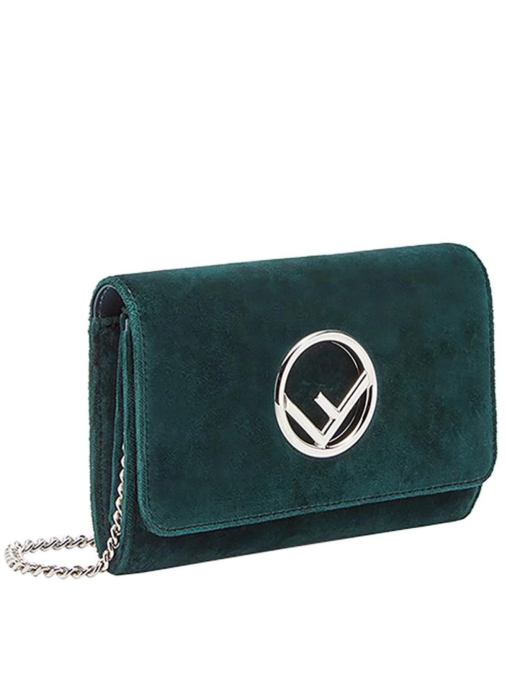 FENDI | сумка-кошелек размера мини на цепочке | Clouty