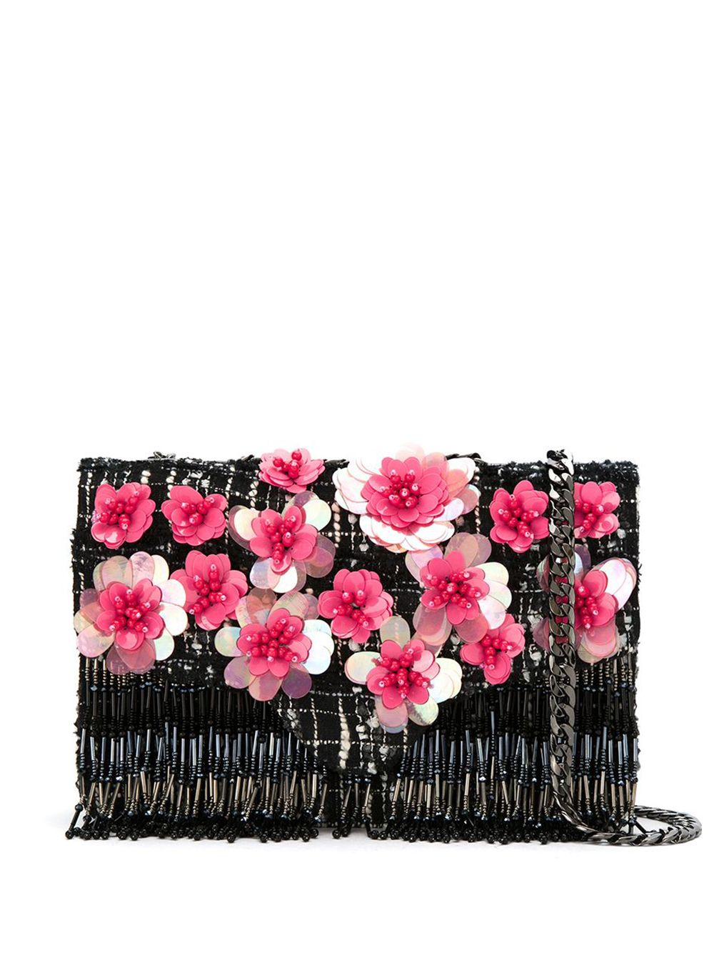 Isla | tweed embroidered shoulder bag | Clouty