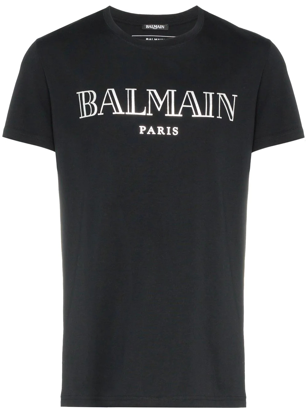 BALMAIN | футболка с короткими рукавами и принтом логотипа | Clouty