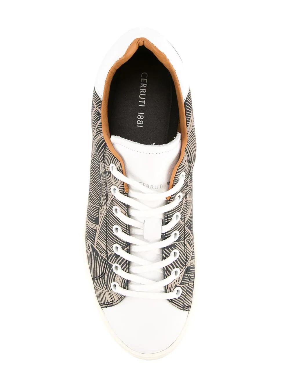 Cerruti 1881 | кроссовки на платформе с принтом | Clouty