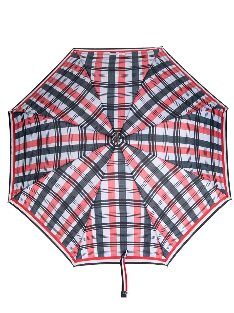 Thom Browne | зонт в полоску с искривленной ручкой | Clouty