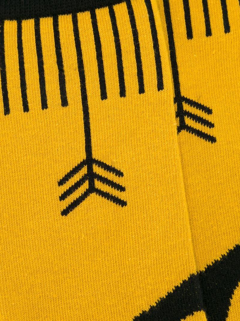 Henrik Vibskov | Жёлтый и оранжевый носки 'Pointing Arrows' Henrik Vibskov | Clouty