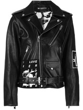 Фото байкерская куртка с принтом 'Warszawa'  Misbhv