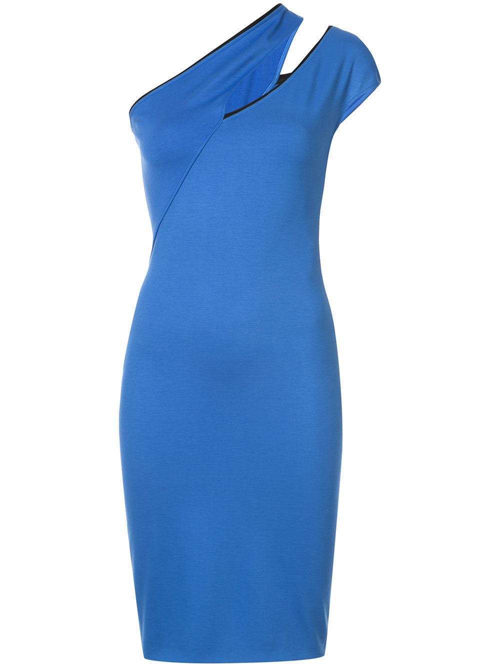Mugler | коктейльное платье со скошенным плечом | Clouty