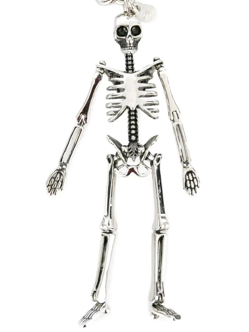 Alexander McQueen | Металлический брелок-скелет Alexander McQueen | Clouty