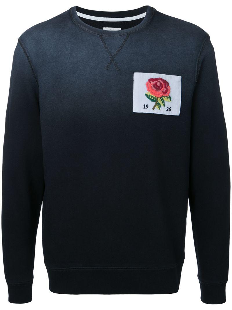 Kent & Curwen | толстовка с вышивкой розы | Clouty