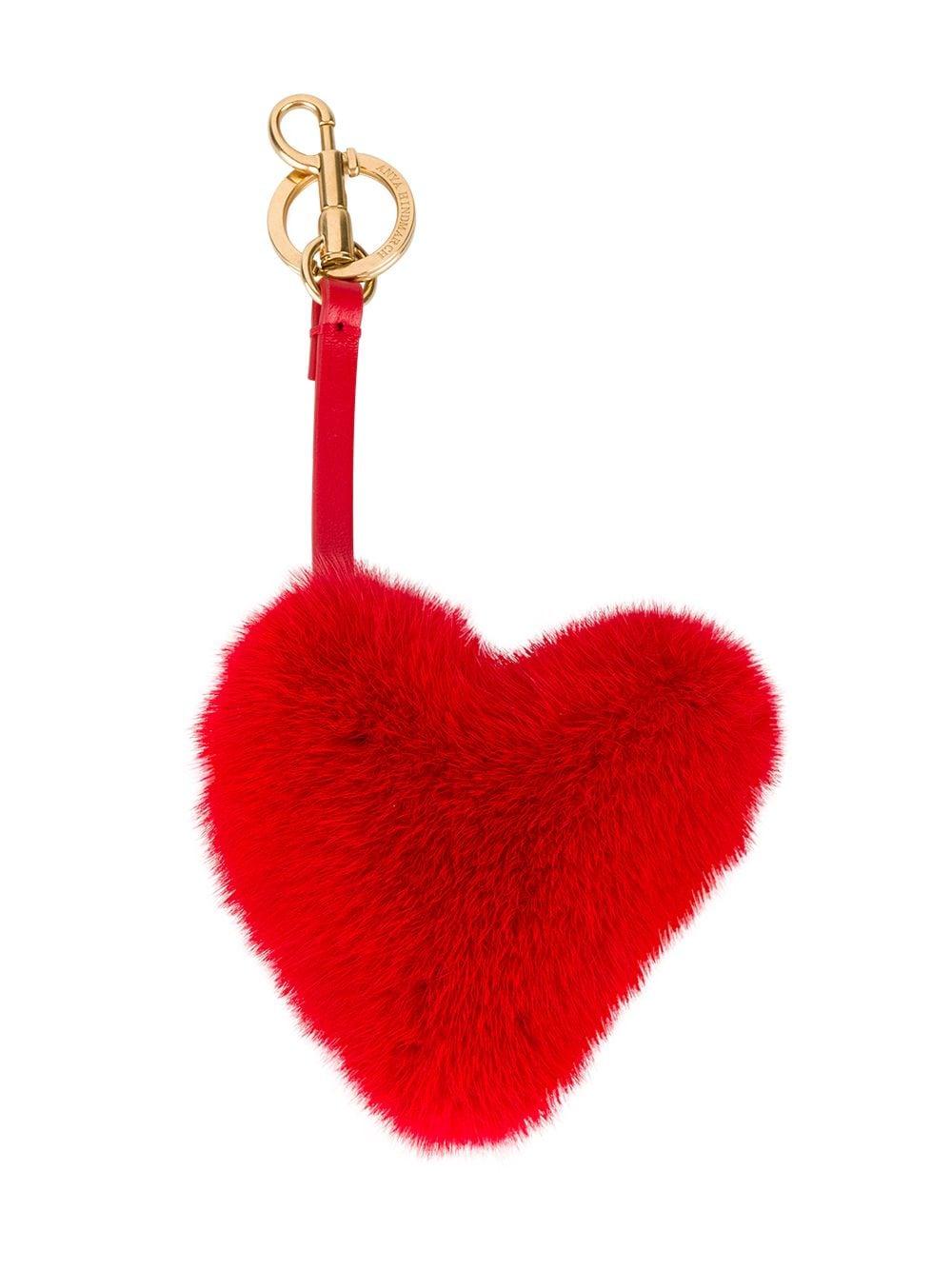 Anya Hindmarch | подвеска на сумку в виде сердца | Clouty