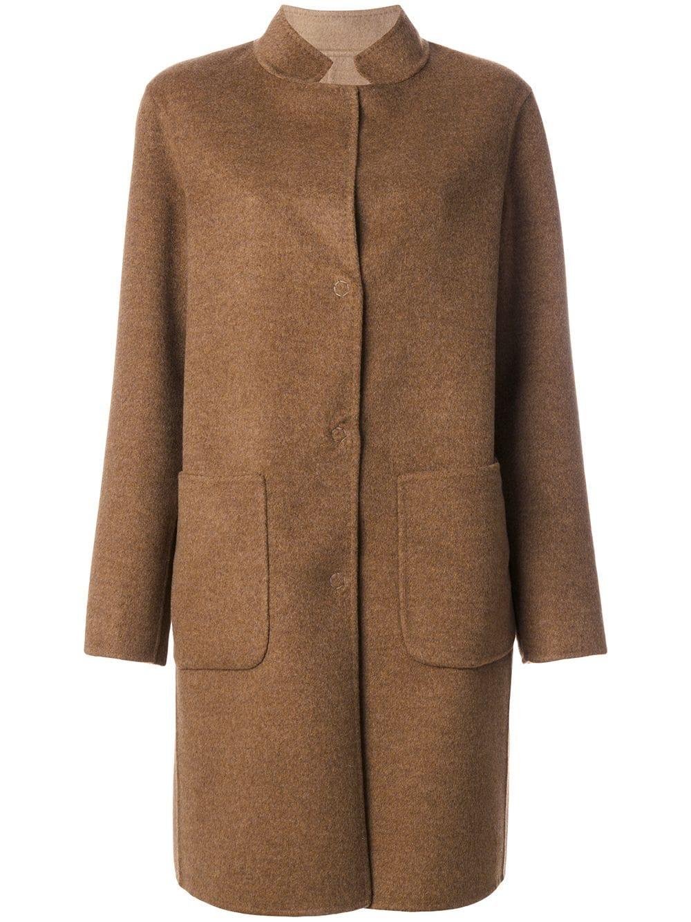 Manzoni 24   однобортное пальто   Clouty