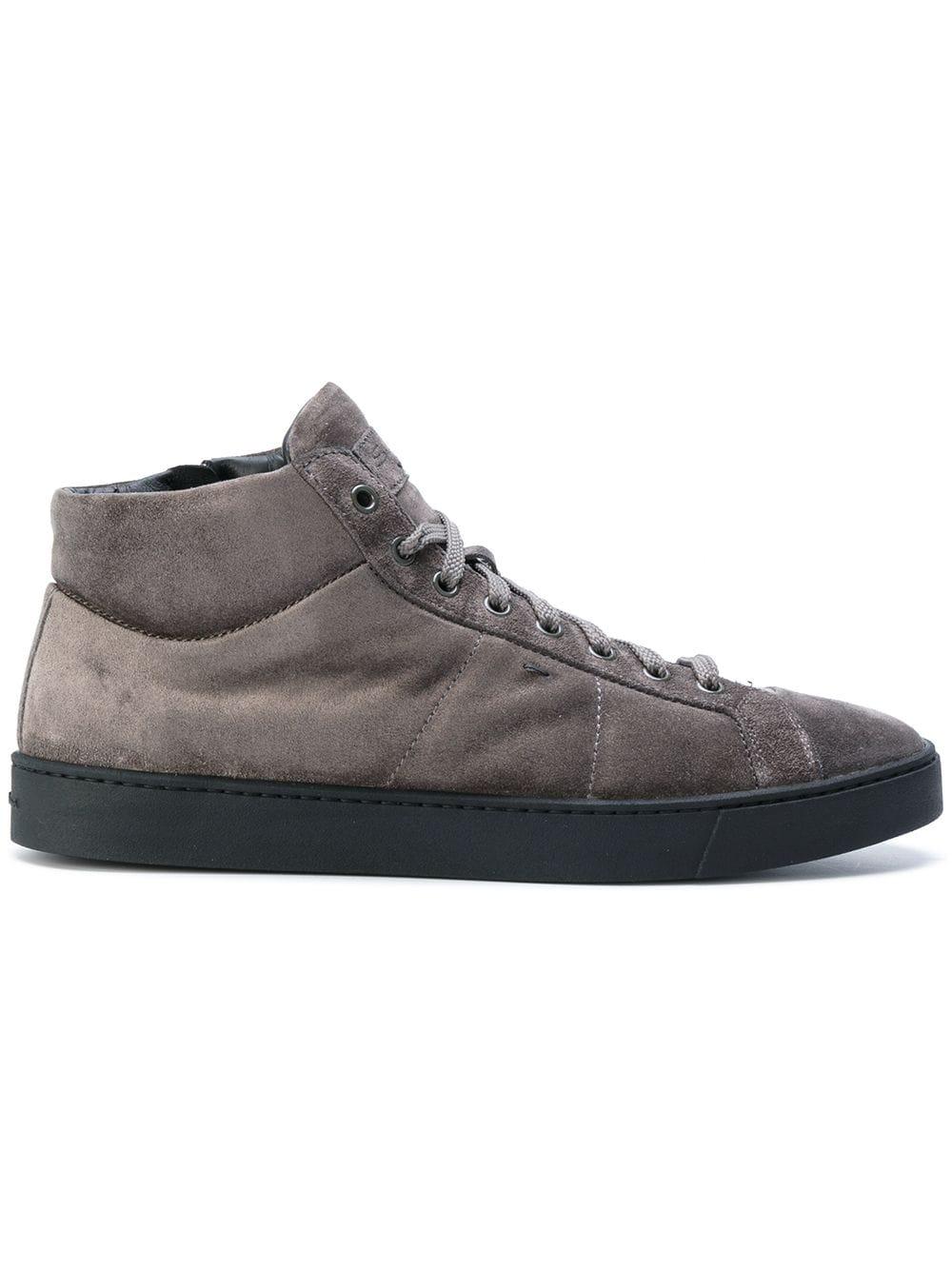 Santoni | замшевые кроссовки | Clouty