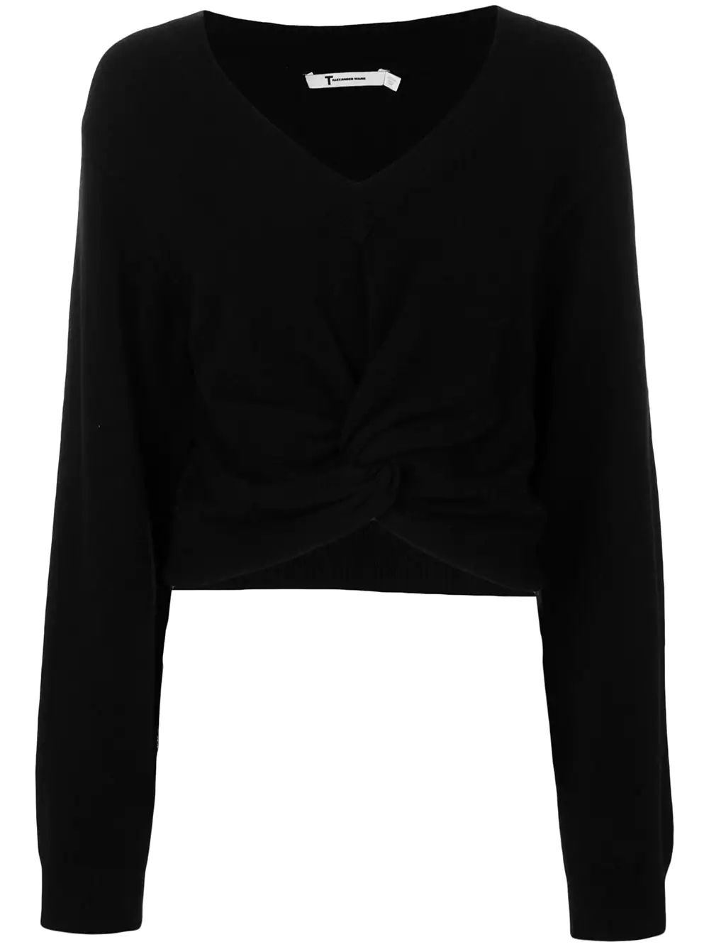 T by Alexander Wang | свитер с перекрученной деталью | Clouty