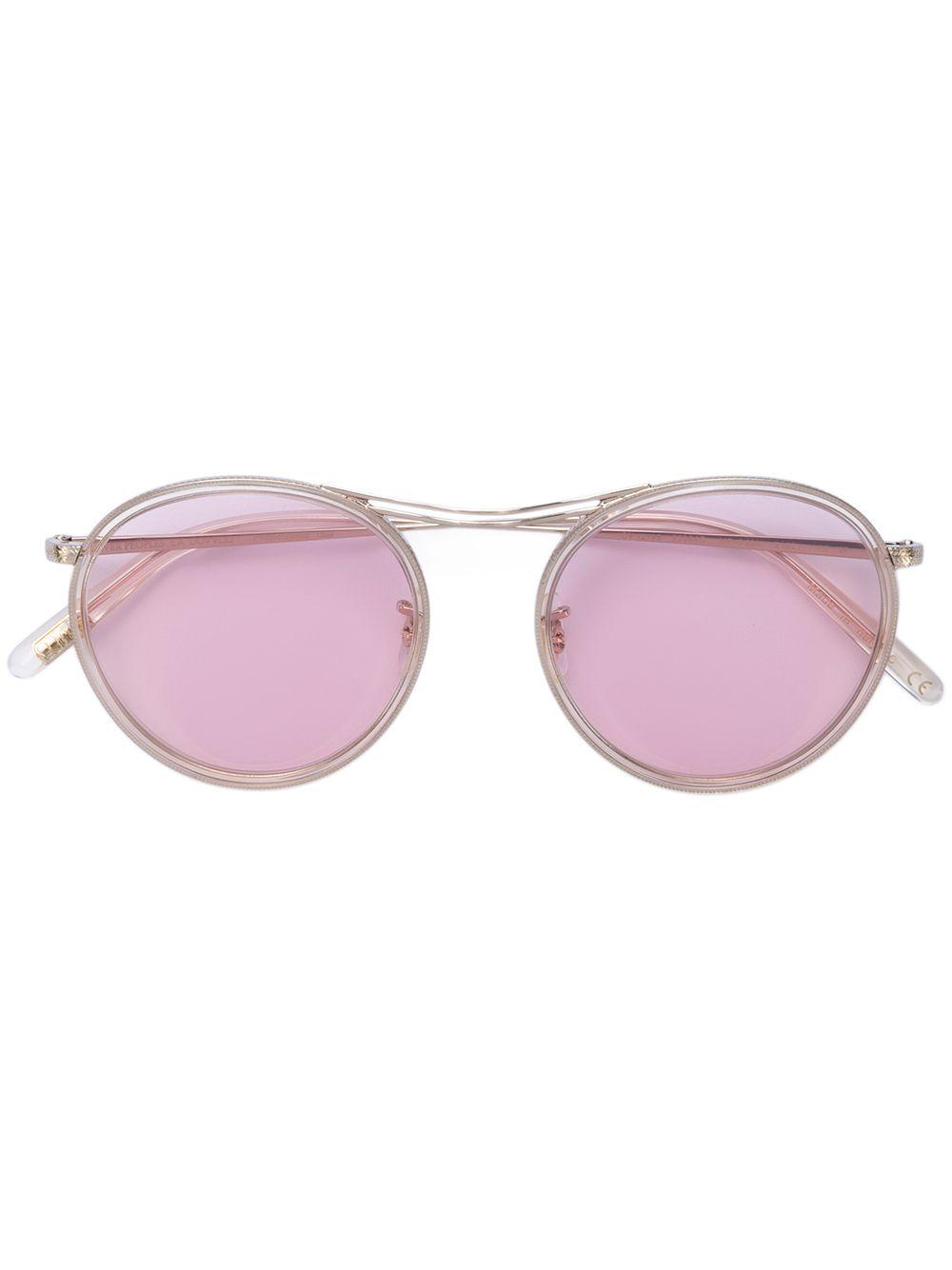 Oliver Peoples | солнцезащитные очки 'MP-3' в круглой оправе | Clouty