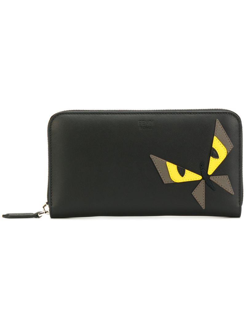 827fc08a293e Кошелек на молнии 'Bag Bugs ' Fendi CL000014747792, цвет: чёрный ...