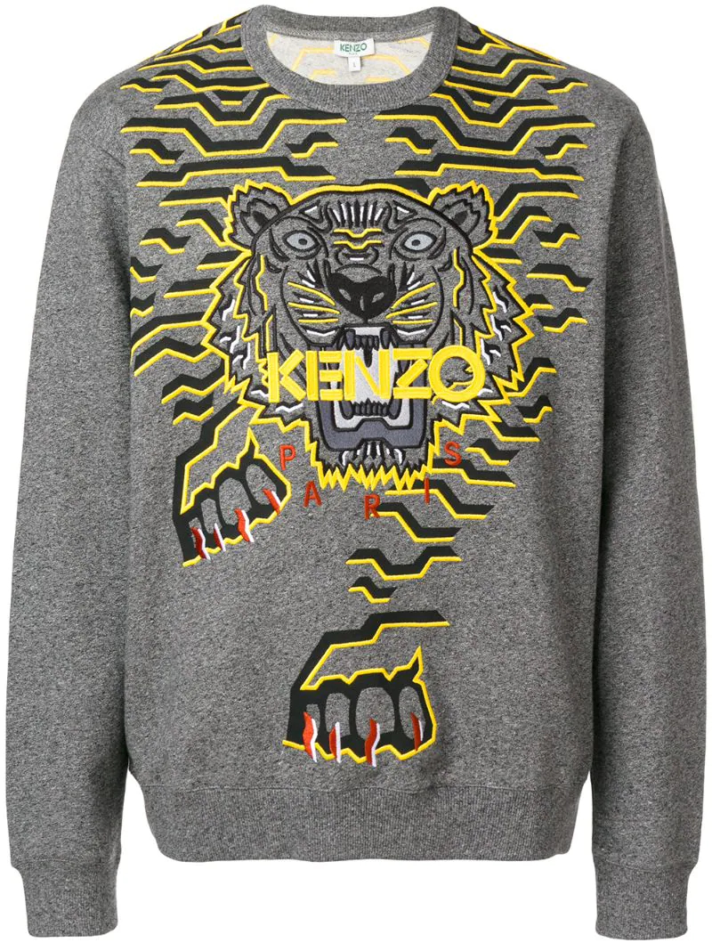 KENZO | Серый толстовка 'Geo Tiger' Kenzo | Clouty