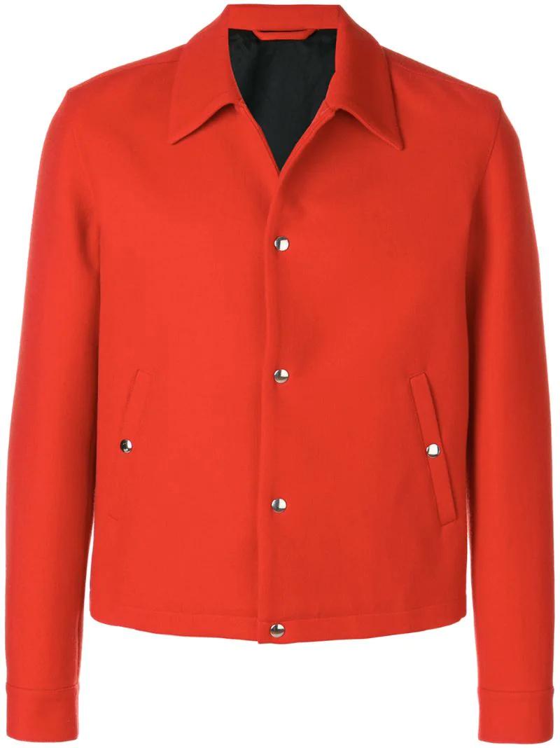 AMI | Красный однобортное клетчатое пальто Ami Alexandre Mattiussi | Clouty