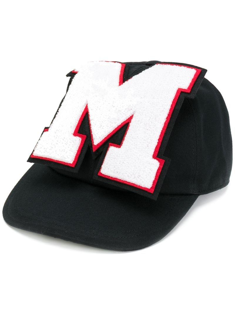 MSGM | Чёрный кепка с заплаткой MSGM | Clouty