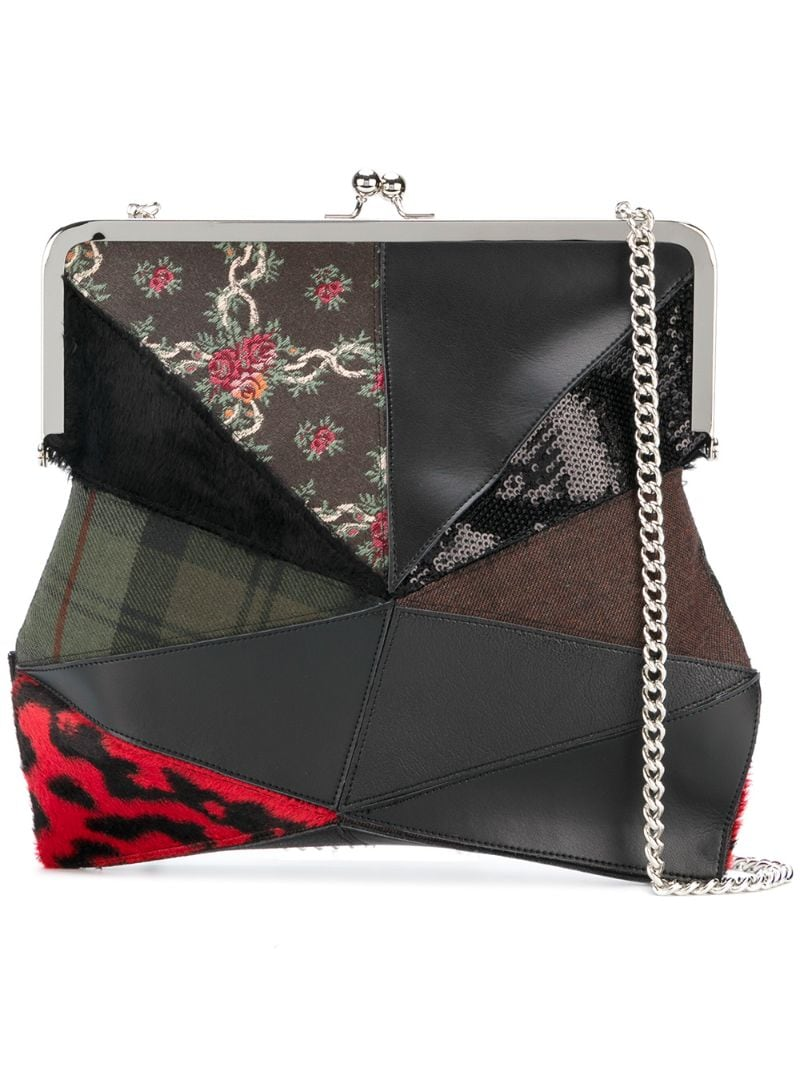 Junya Watanabe   Чёрный сумка в стиле пэчворк Junya Watanabe Comme Des Garcons   Clouty