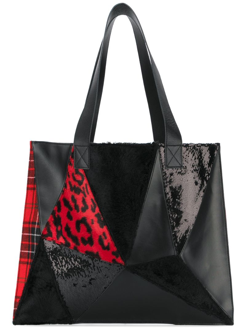 Junya Watanabe | Чёрный сумка-тоут в стиле пэчворк Junya Watanabe Comme Des Garcons | Clouty