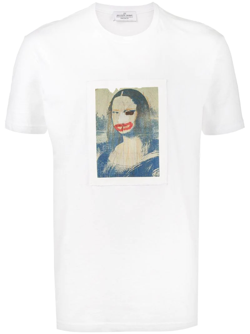 jean-michel basquiat x browns | Белый футболка 'Mona Lisa' Jean-Michel Basquiat X Browns | Clouty