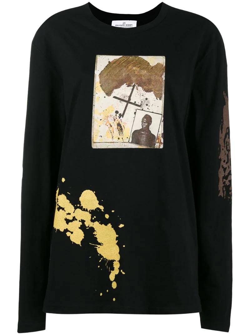 топ с длинными рукавами и принтом 'Rome Pays Off Notebook' Jean-Michel Basquiat X Browns