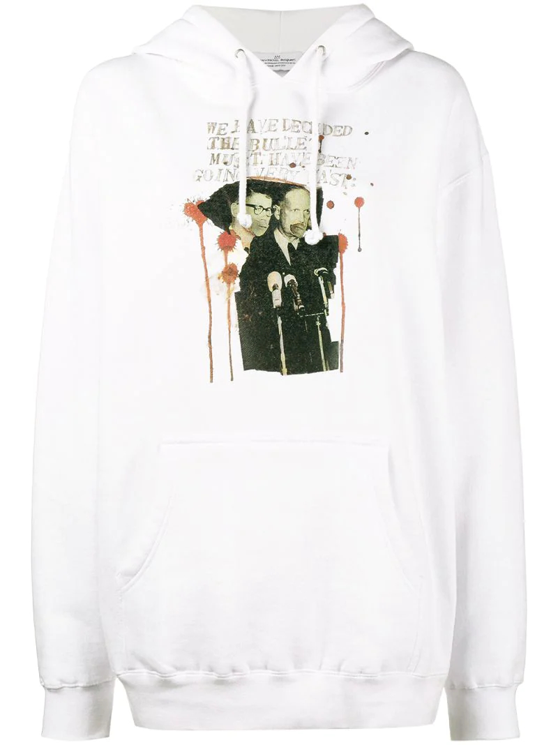 толстовка с принтом 'Rome Pays Off Bullet' Jean-Michel Basquiat X Browns