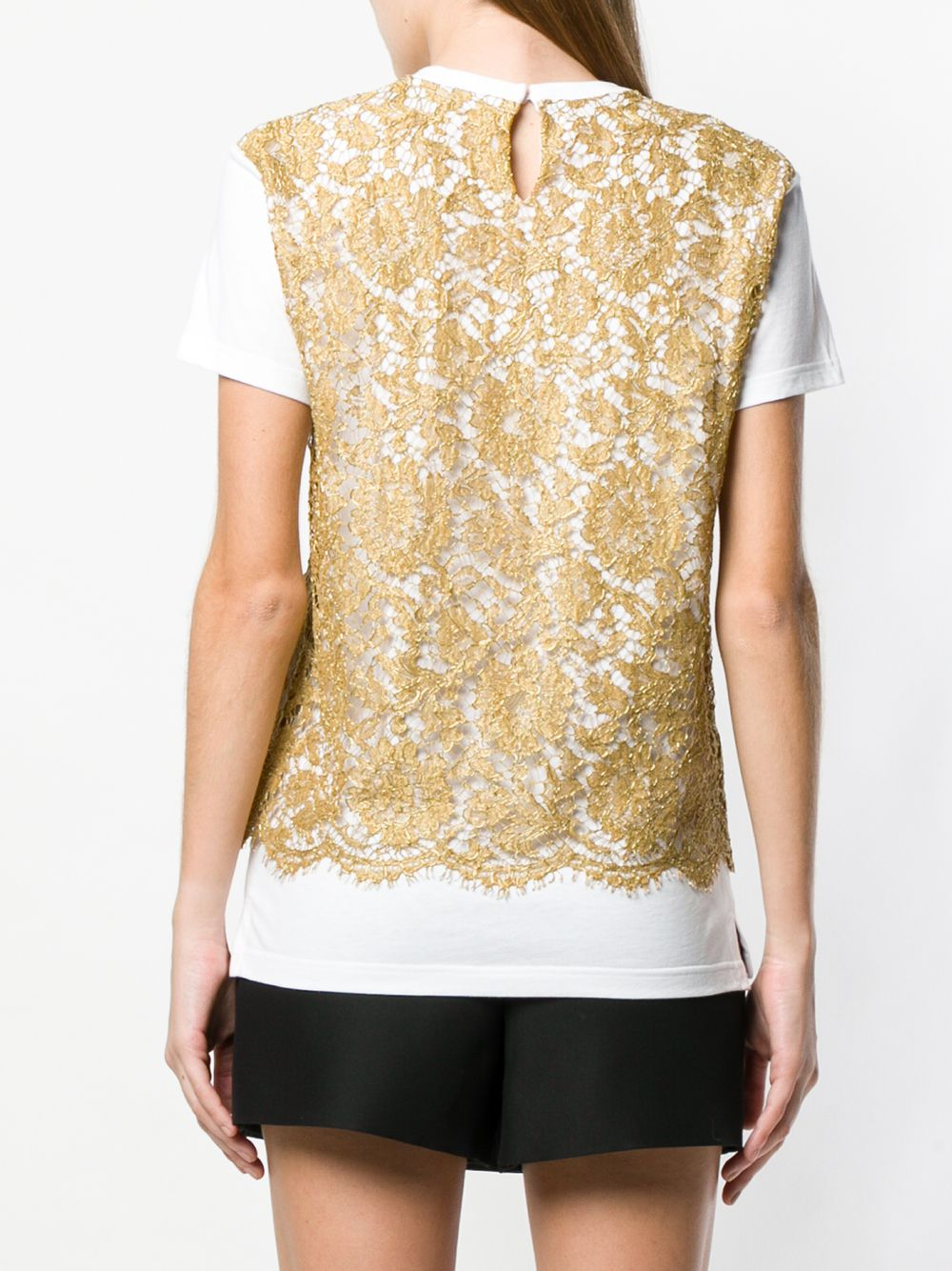 VALENTINO | кружевная футболка | Clouty