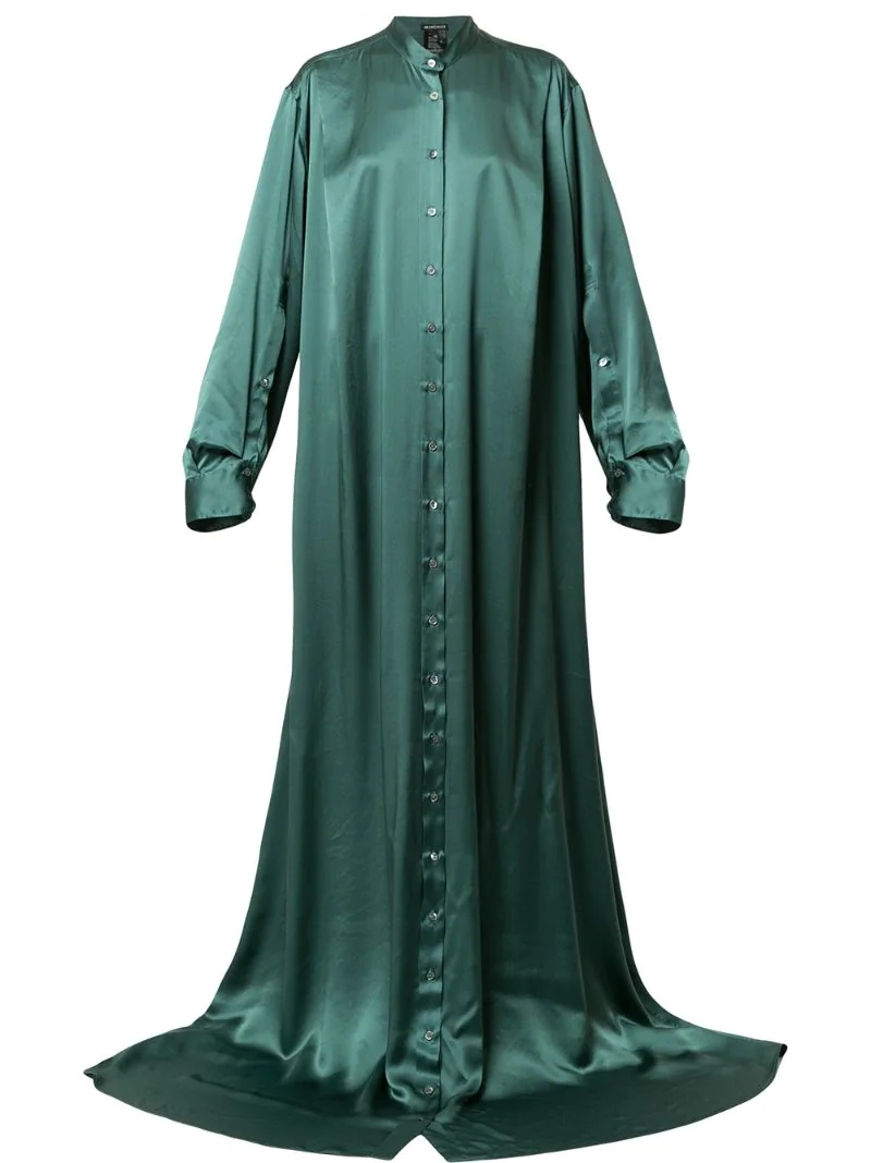 Ann Demeulemeester   длинное платье на пуговицах   Clouty