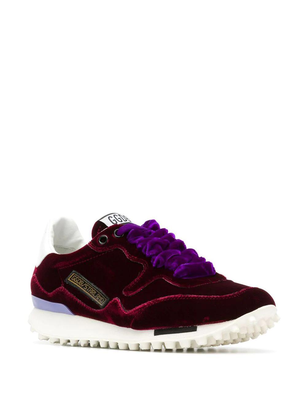 Golden Goose Deluxe Brand | бархатные кроссовки на шнуровке | Clouty