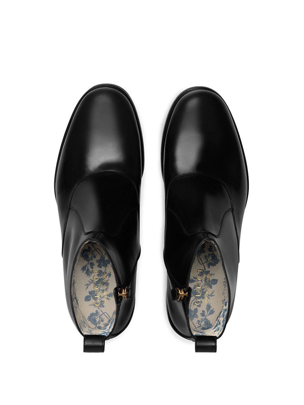 GUCCI | ботинки челси с вышивкой пчелы сзади | Clouty