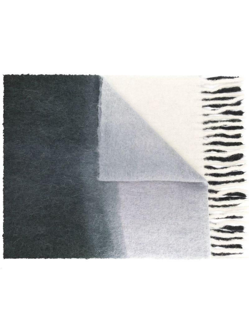 Acne Studios   двухцветный шарф 'Kelow Dye'   Clouty