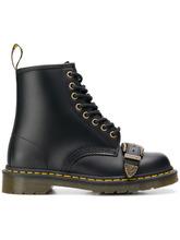 buckle fastening combat boots