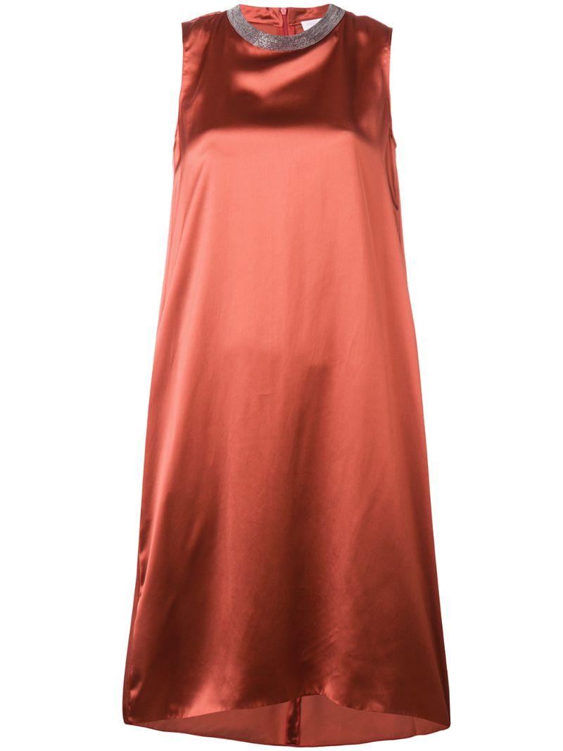 Fabiana Filippi | платье миди с отделкой на вороте | Clouty