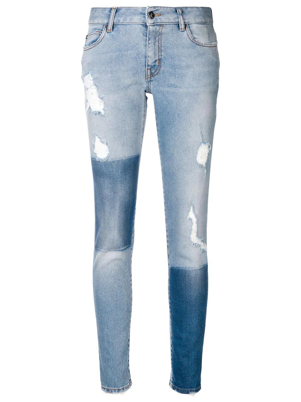JUST CAVALLI | джинсы скинни с эффектом потертости | Clouty