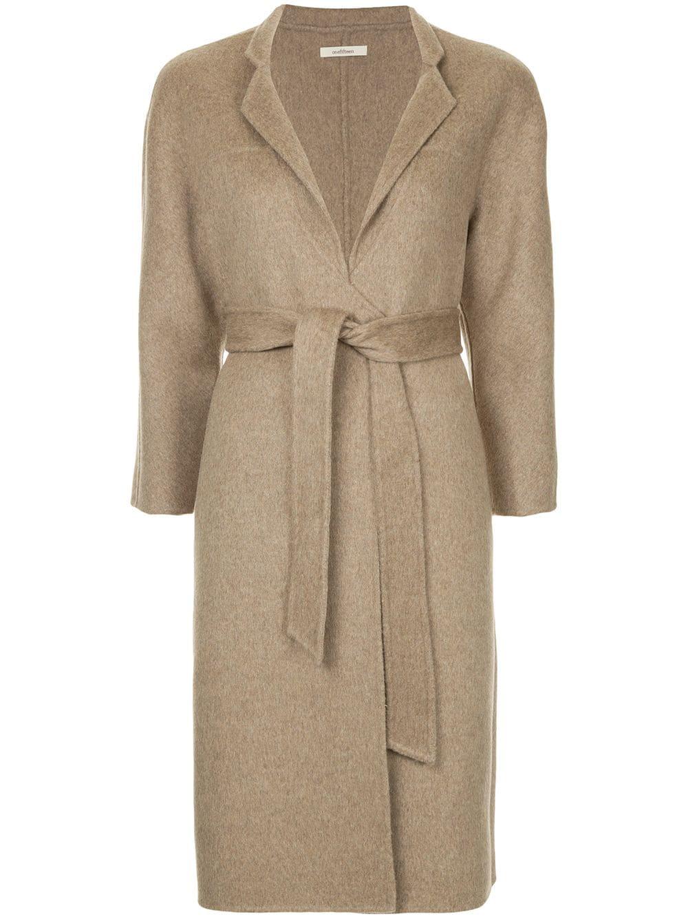 Onefifteen | пальто с поясом | Clouty