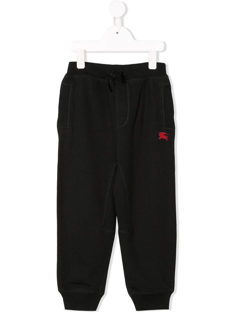 Burberry Kids   спортивные брюки с вышитым логотипом   Clouty