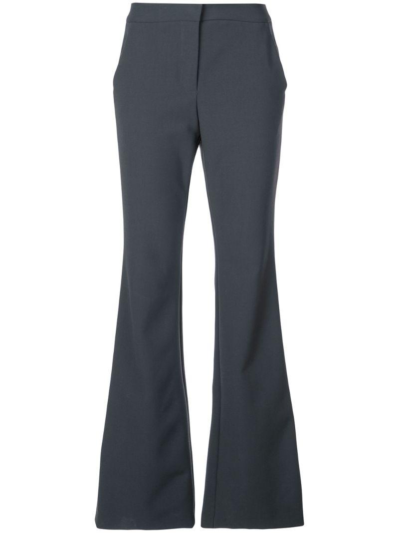 TIBI   расклешенные брюки   Clouty