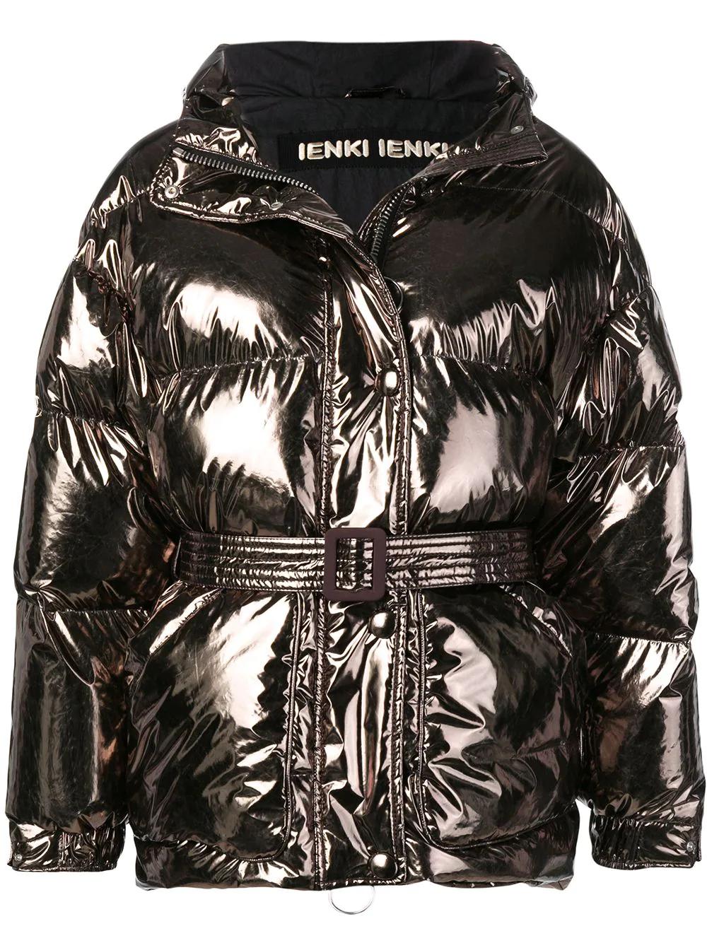 Ienki Ienki | дутая куртка с металлическим отблеском | Clouty